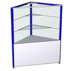 Прилавок-витрина угловой ПРК 1АУВ внутренний (600x600x900)