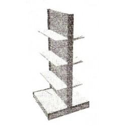 Стеллаж островковый с двухсторонней выкладкой товара ЛВ3 (1500х1000х595)