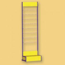 Стеллаж для обоев ОС3 (с двумя стойками) (650х400х2100)