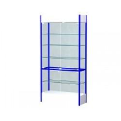 Шкаф-витрина остекленная с замком ВС/600 (650x400x2100)