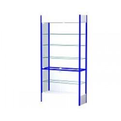 Шкаф-витрина остекленная с замком и металлической задней стенкой ВС МЗ/600 (650x400x2100)