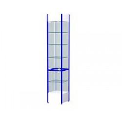 Шкаф-витрина остекленная с замком ВС3 (400x400x2100)