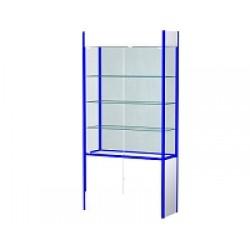 Шкаф-витрина остекленная с замком и накопителем СД/600 (650x400x2100)
