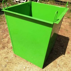 Металлический контейнер объемом 0,5 куб.м. (800х600х960)